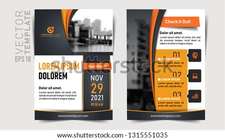 Download this elegant design template. Print ready. Two Sided Leaflet. EPS File. Easy to edit vector. A4 Size. Can be used as Online Invite. Online Banner. Company  Flyer. Design Template.