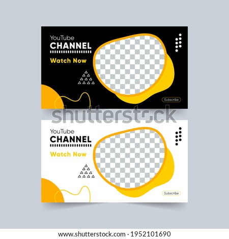 download, thumbnail, marker, template, kit, branding, youtube thumbnail. banner blobs download, banner blobs and lines. Vector Illustration