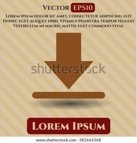 Download vector icon or symbol