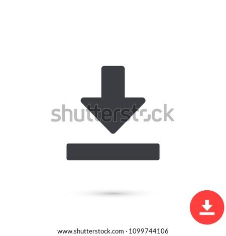 Downloading  vector icon