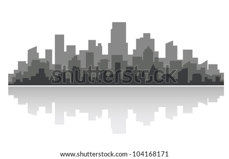 Downtown cityscape for business concept design. Vector illustration