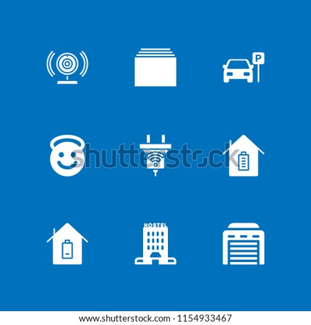 downtown icon. 9 downtown set with architecture and city, building, parked car and new vector icons for web and mobile app