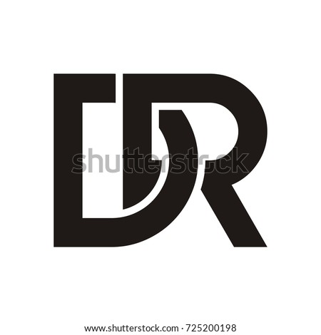 DR initial letter logo design template vector