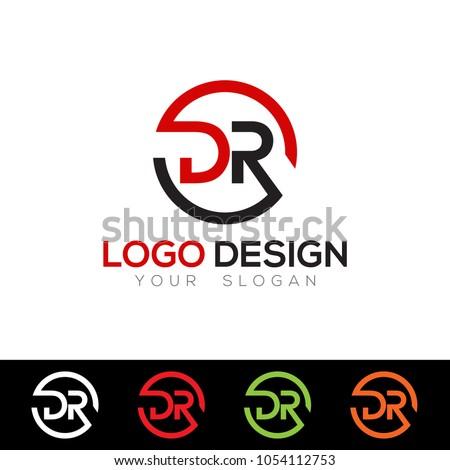 DR Letter Logo Design Template Vector EPS File