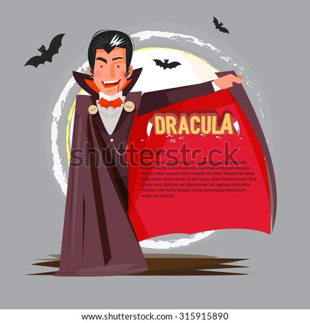 dracula character design open