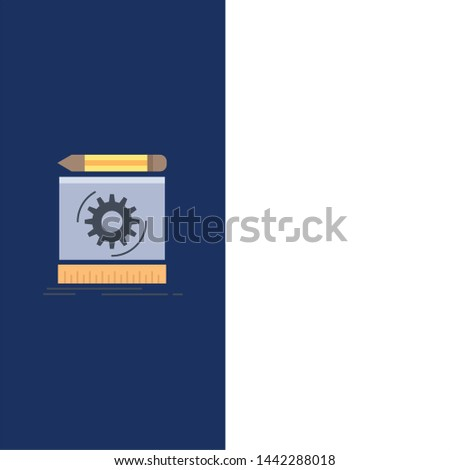 Draft, engineering, process, prototype, prototyping Flat Color Icon Vector