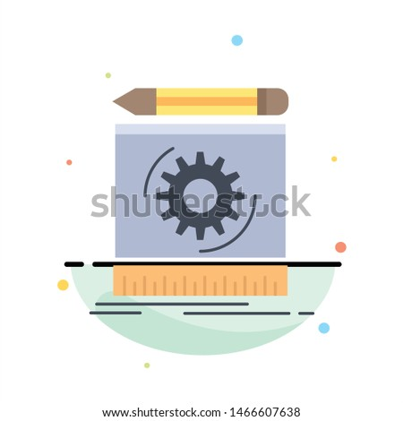 Draft, engineering, process, prototype, prototyping Flat Color Icon Vector. Vector Icon Template background