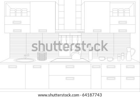 draft of kitchen kitchen
