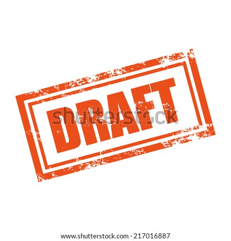 draft rubber stamp effect