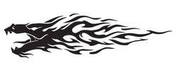 Dragon Abstract Flame Speed Trail Design