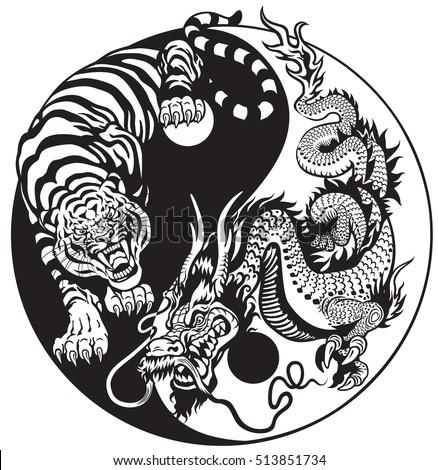 dragon and tiger yin yang