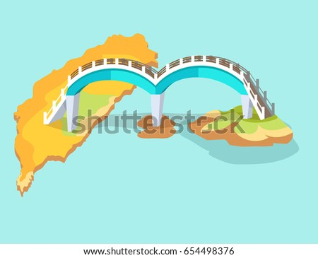 dragon arched bridge in taiwan