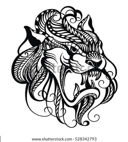 Dragon, black dragon tattoo
