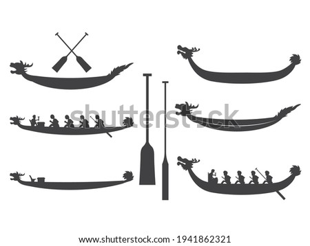 Dragon Boat Racing, Dragon boat, and Dragon Boat Racing silhouettes, Dragon boat festival