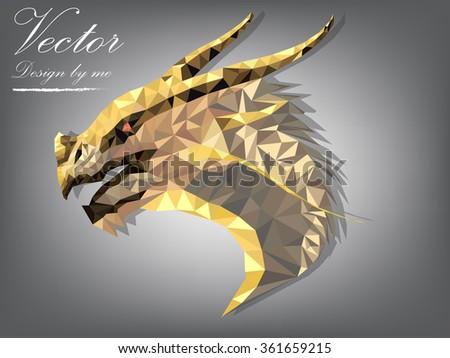 dragon design polygon dragon