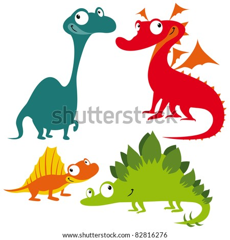 dragon  dinosaur and lizard