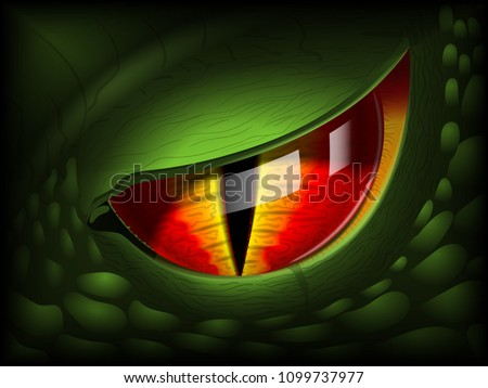dragon eye realistic 3d image