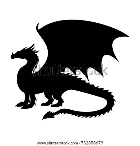 dragon fantastic silhouette