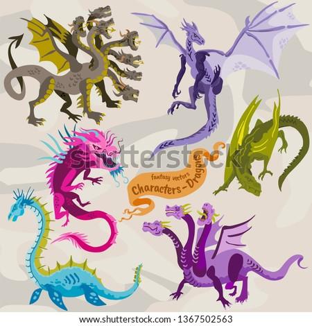 dragon fantasy illustrations