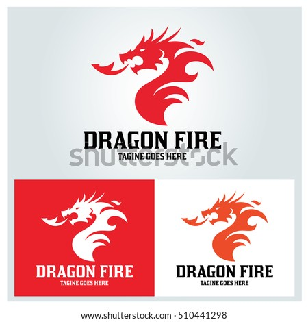 dragon fire logo design