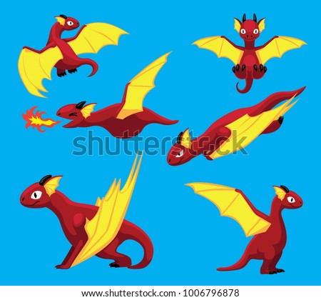 dragon flying poses cute