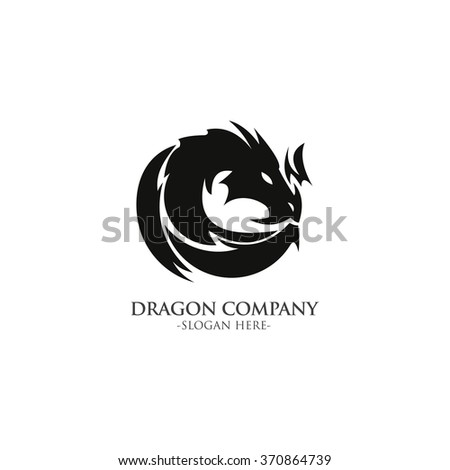 dragon head logo  icon and