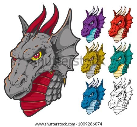 dragon head graphics download free vector art stock graphics images