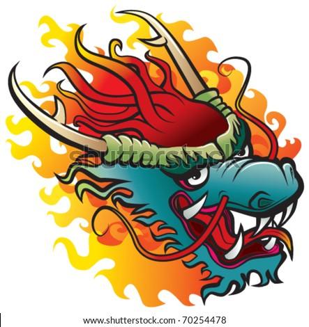 dragon head original artwork