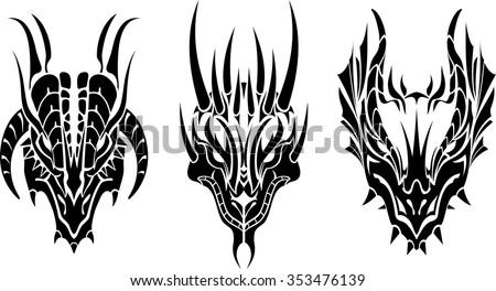 dragon head tattoo three