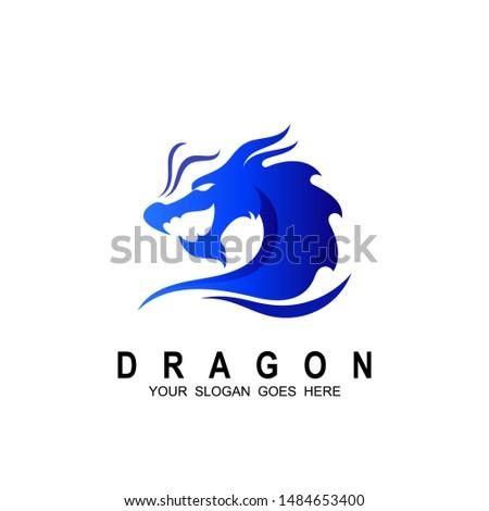 dragon head vector logo  dragon