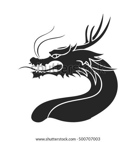 dragon icon in  black style