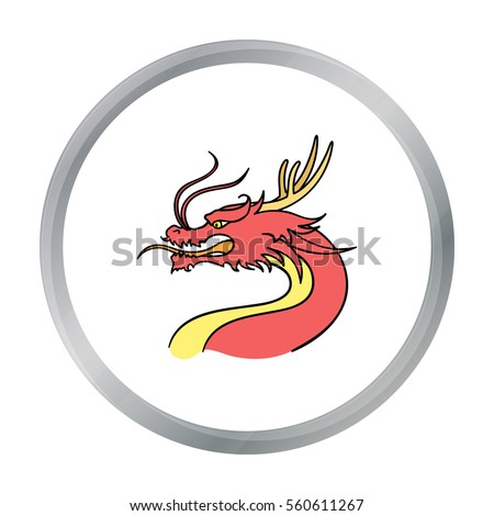dragon icon in cartoon style