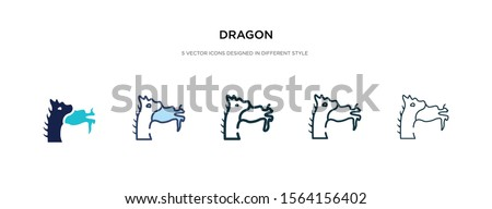 dragon icon in different style