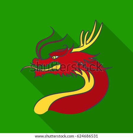 dragon icon in flate style