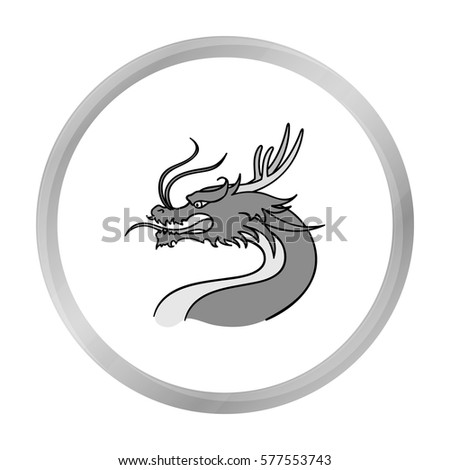 dragon icon in monochrome style