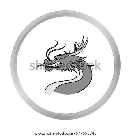 dragon icon in monochrome style