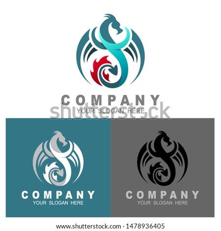 dragon image logo vector