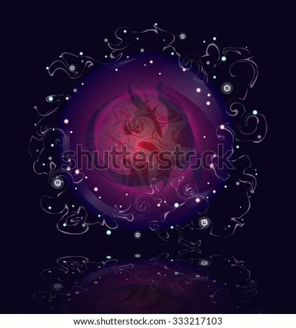 dragon in magic spheres the