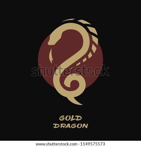 Dragon logo, against the background of the sun.