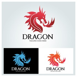 Dragon logo design template ,Vector illustration