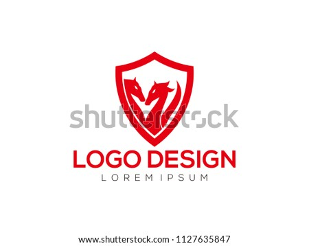 dragon logo design template