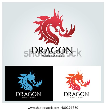 dragon logo design template