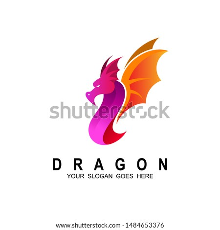 dragon logo   dragon and fire