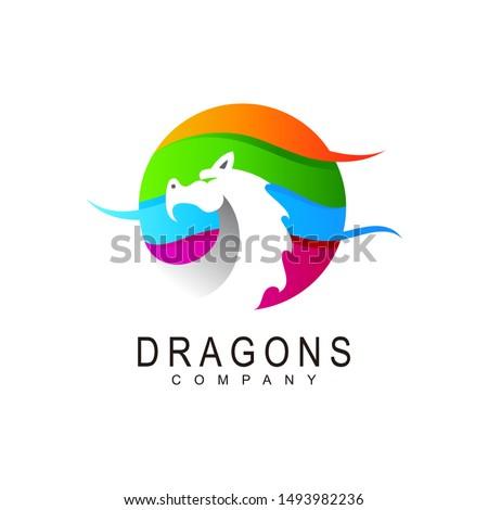 dragon logo  dragon logo with