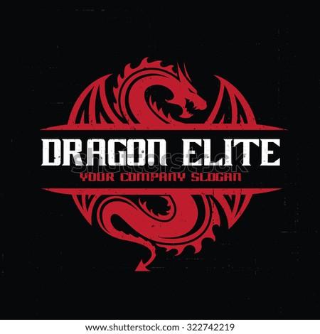 dragon logo dragon vector logo