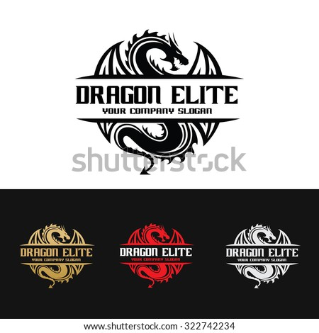 dragon logo dragon vector logo