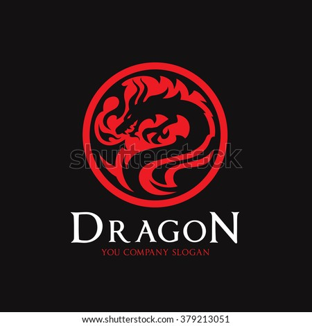 dragon logo logo template