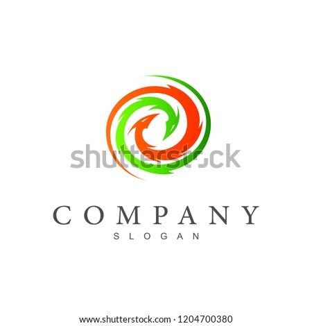 dragon logo   two circular