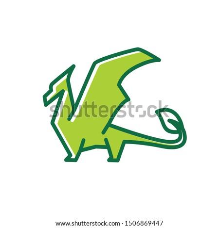dragon logo vector design