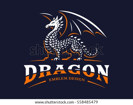 dragon logo   vector...